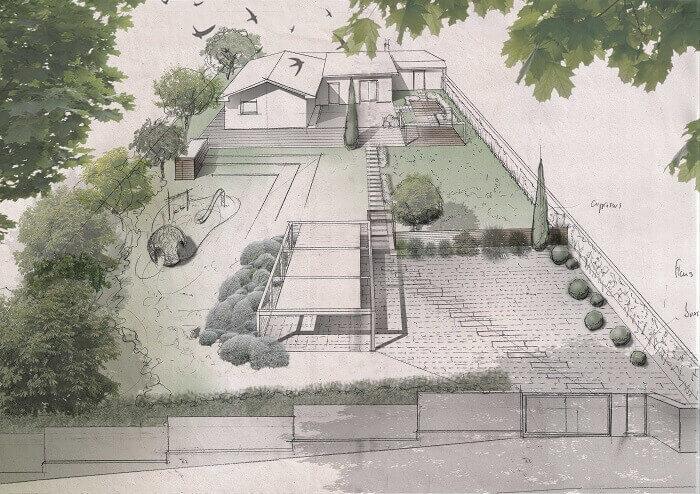 Progetto giardino privato a Roma