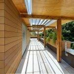 dettaglio pergolato del tetto giardino