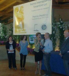 Premiazione Virginio Melaranci al concorso internazionale Torsanlorenzo