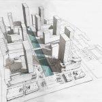 Master plan preliminare per un intervento di 200.000 mq con residenze, uffici e servizi nell'area sperimentale di Changba a Xi'an, Shaanxi, China